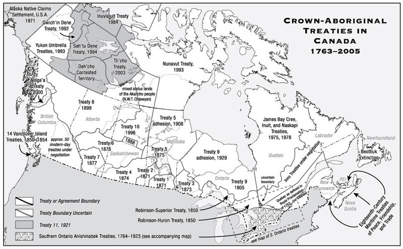 """Crown-Aboriginal Treaties in Canada, 1763-2005"""