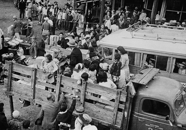 Relocation of Japanese-Canadians to internment camps, 1942