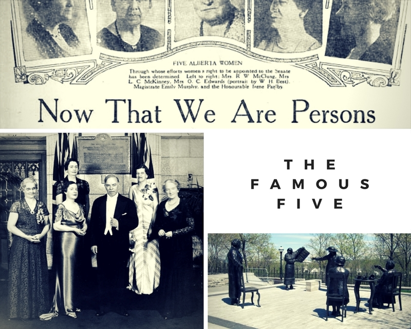 Collage representing the Famous Five and the Persons Case |