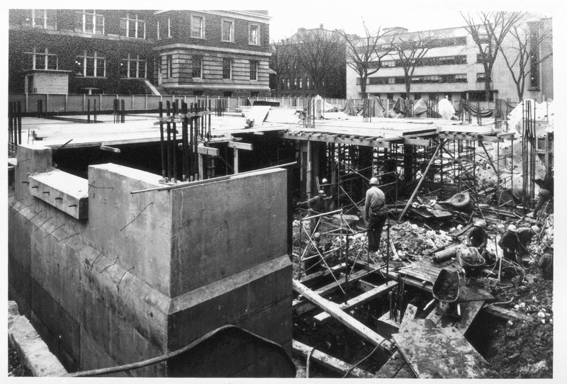Construction of the Metallurgy Building March 3rd, 1965