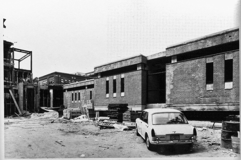 Construction of the Metallurgy Building August 18, 1965