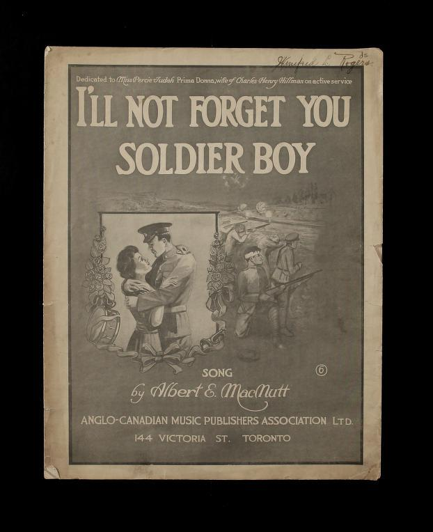 i'll not forget you soldier boy