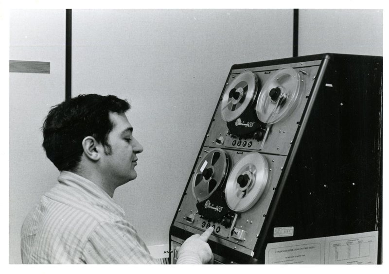 Playing reel-to-reel tape at OISE Media Services