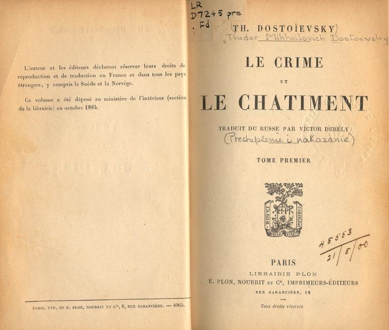 Le Crime et le Chatiment