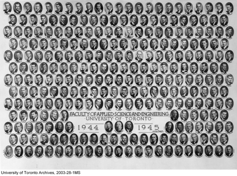 Faculty of Applied Science and Engineering, 1944-1945