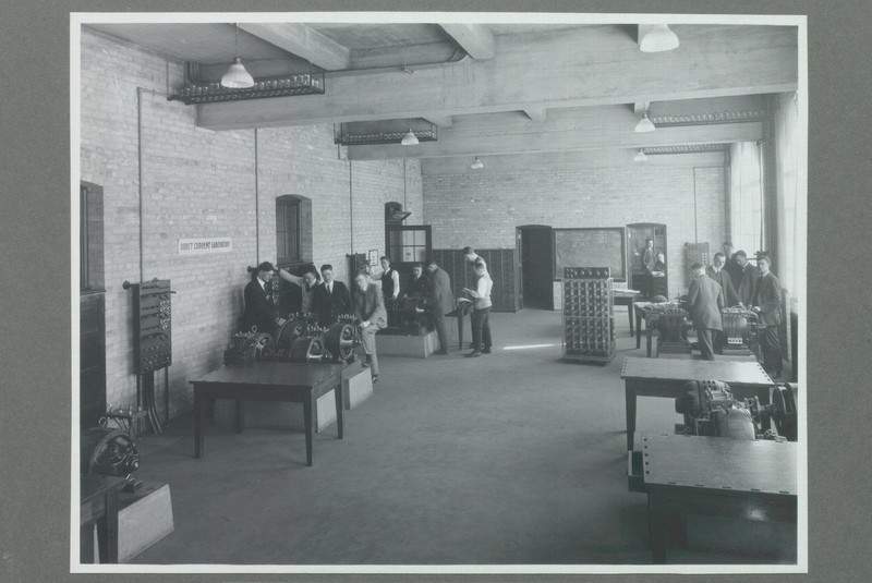 Students in the Alternating Current Laboratory, Electrical Building