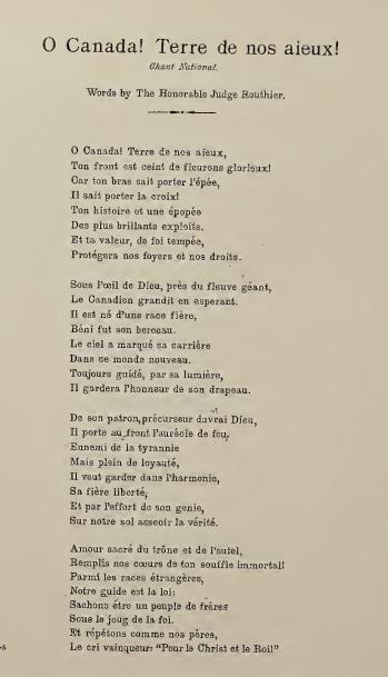 O Canada French Lyrics