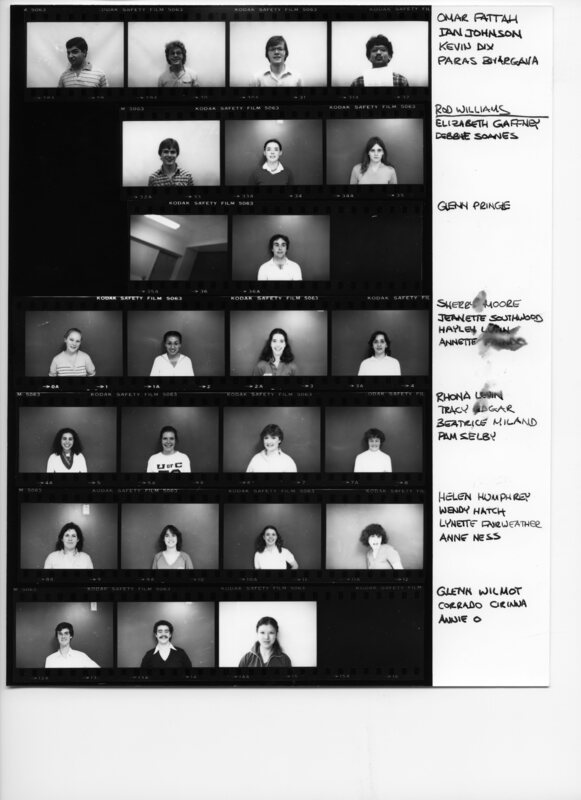Audition Contact Sheets 8T3
