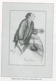 Caricature of József Pogány