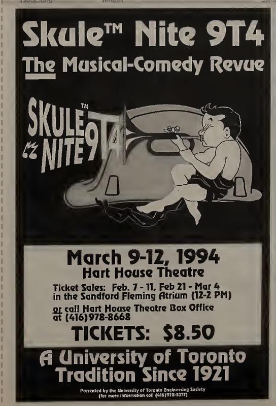 Skule Nite 9T4 Ticket Sales Ad
