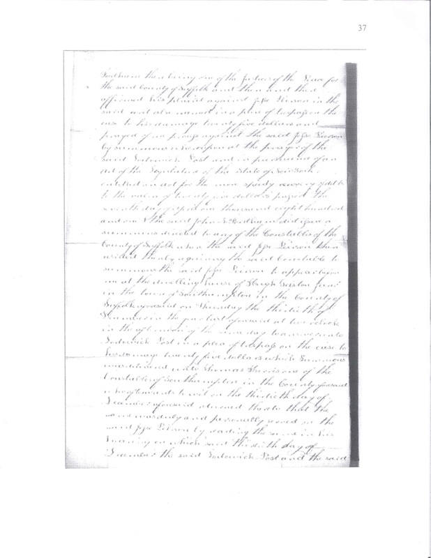 Page 3 of the Pierson v. Post Judgment Roll