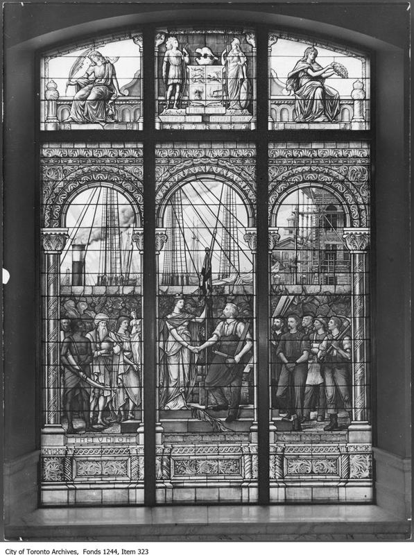 Stained glass window, City Hall