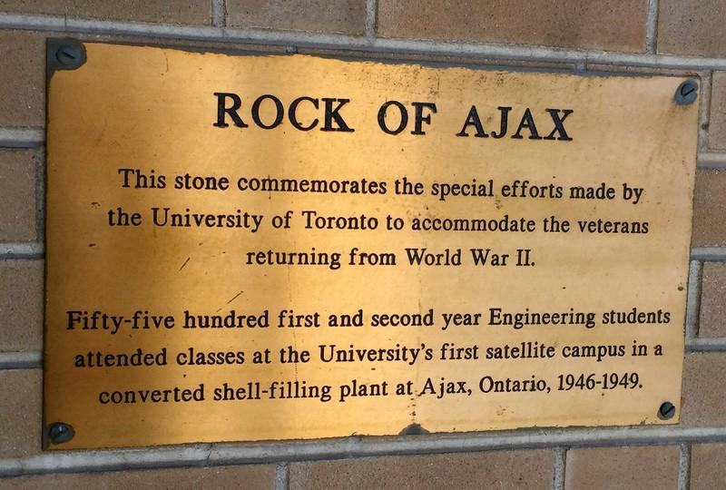 Rock of Ajax Plaque