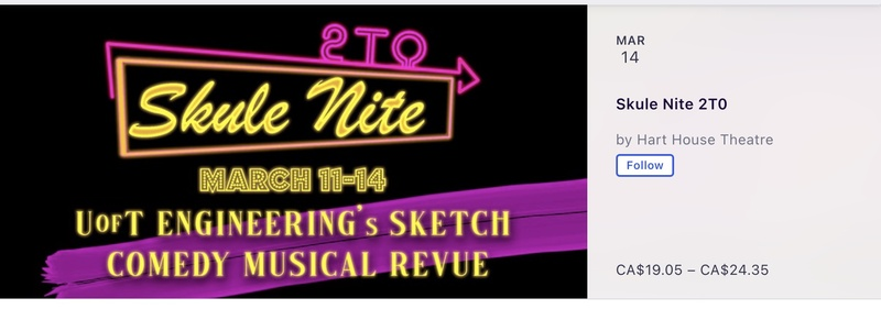 Skule Nite 2T0 Ticket Sales Eventbrite<br /> <br />