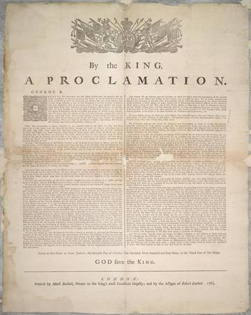 Royal Proclamation, 1763