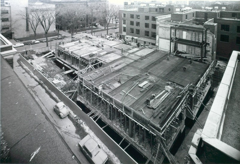 Construction of the Metallurgy Building, April 1, 1965