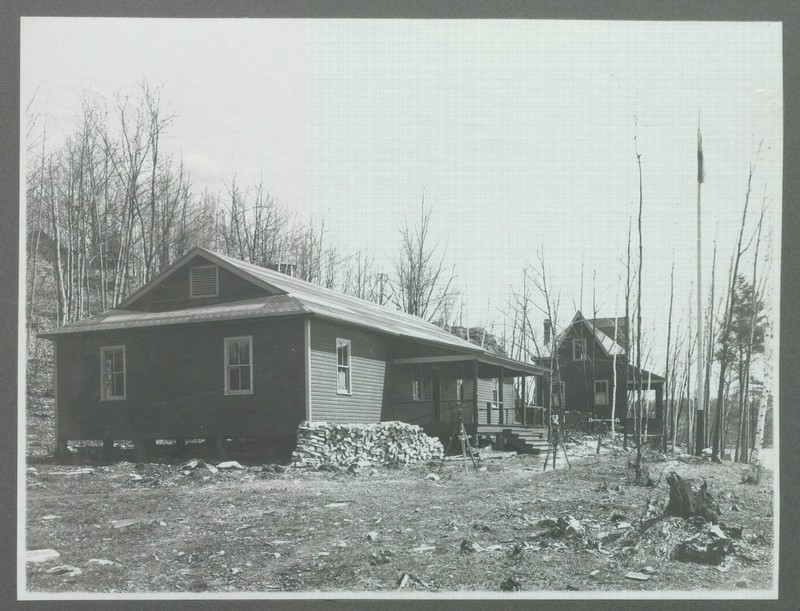 Stewart Hall and Staff Cottage at Gull Lake Surveying Camp