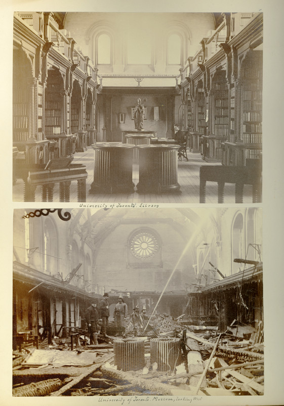 University College, before and after the fire of February 1890