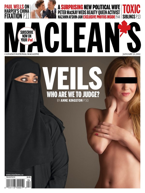 "Cover of Maclean's Magazine: ""Veils: Who are We to Judge?"""