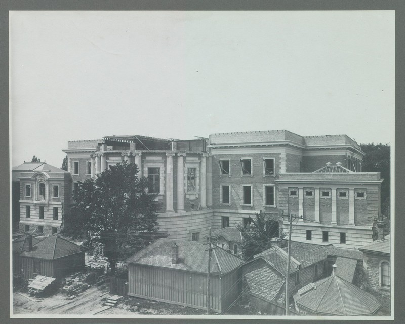 View of the Physics Building Under Construction, ca. 1907<br />