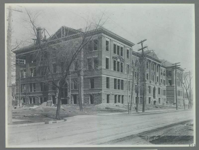 View of the Chemistry and Mining Building Under Construction