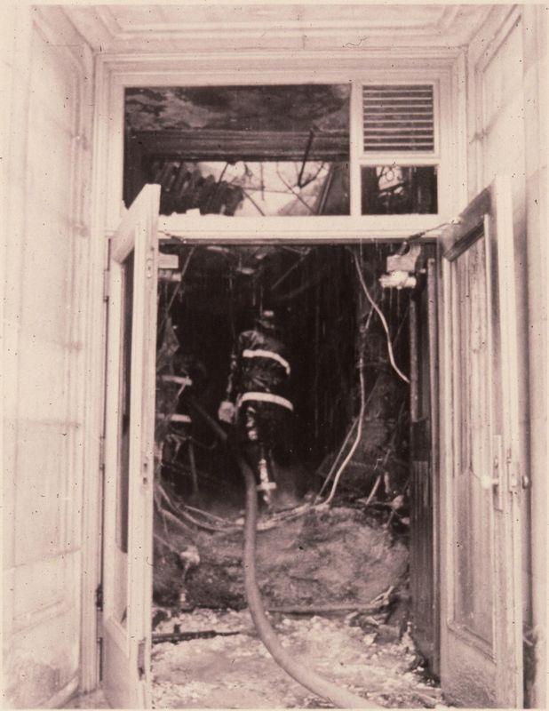 Fireman and Interior Damage