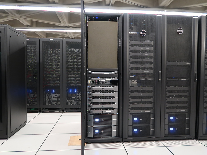 View of the library's data centre in Robarts Library, 2017