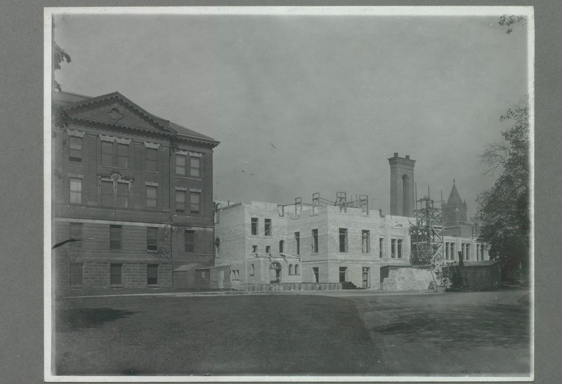 South East View of Constrcution of the Electrical Building