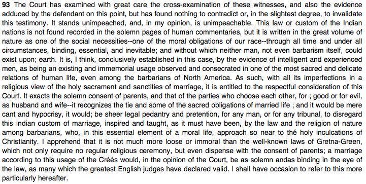 Excerpts from <em>Connolly v. Woolrich et al.</em> (1867), 17 R.J.R.Q. 75