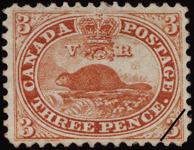 Three Pence Beaver, first Canadian Stamp