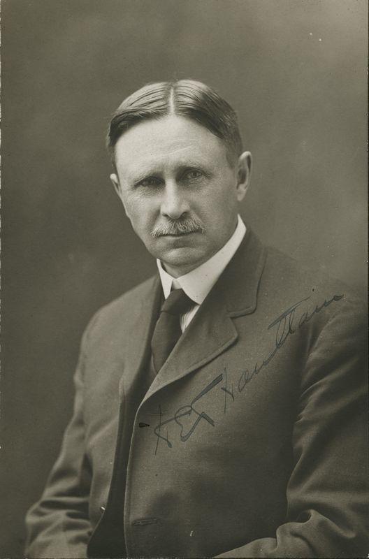 Signed Portrait of Professor H. E. Haultain