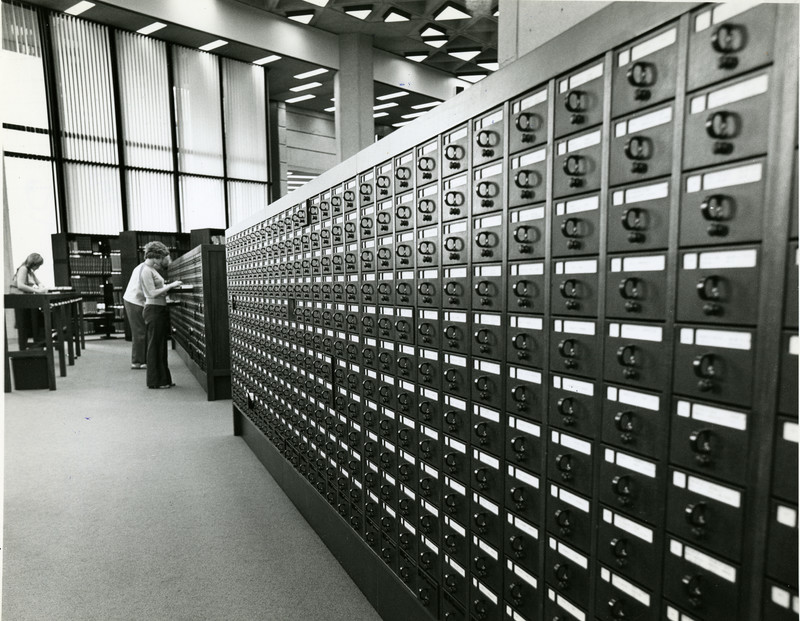 The main card catalogue of Robarts Library, August 1973