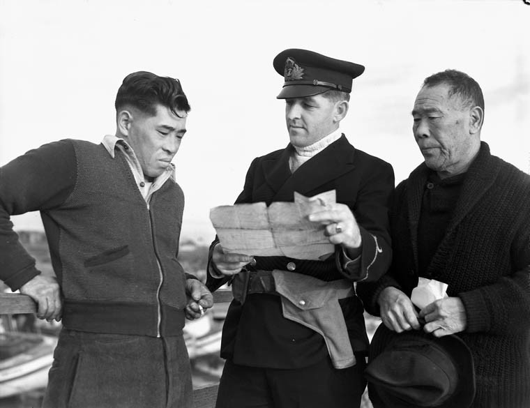 Confiscation of Japanese-Canadian man's fishing boat by Canadian Navy