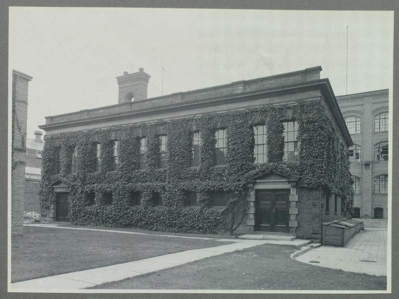 Front view of the Milling Building, 1930