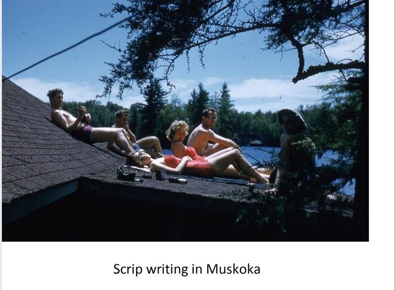 Script Writing in Muskoka 1957