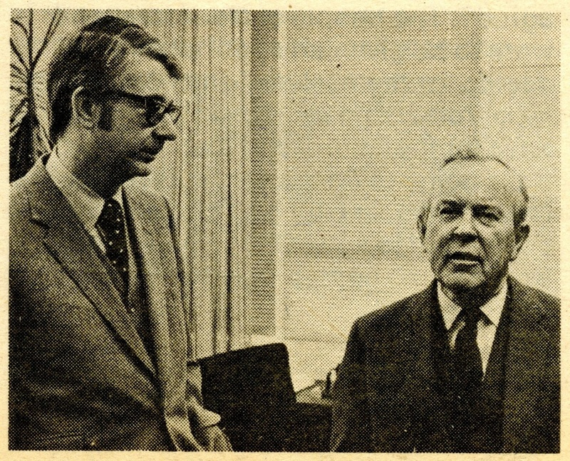 Lester Pearson during a break in his taped interview with Richard Alway