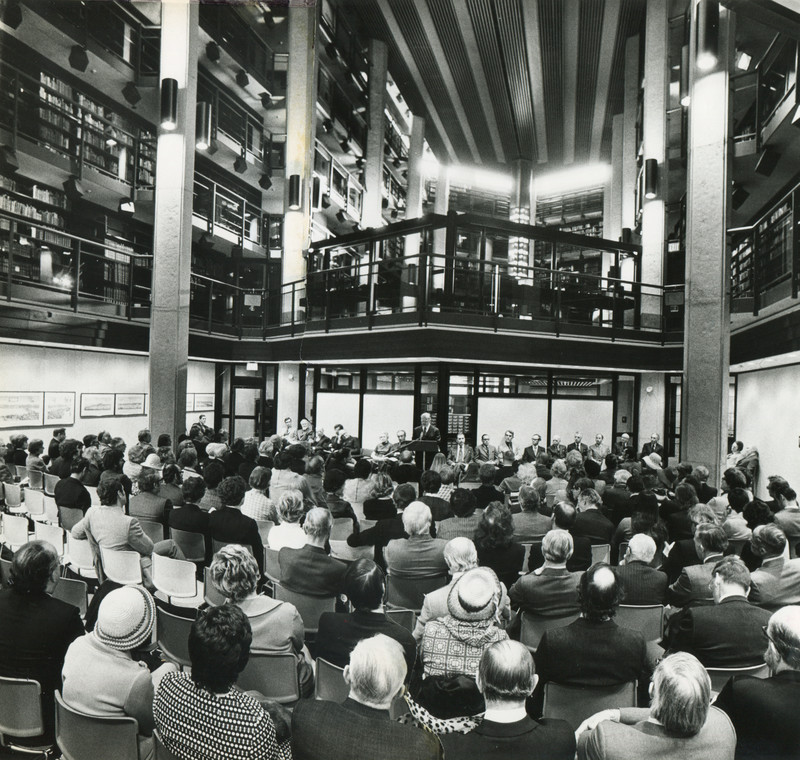 Dedication of the Thomas Fisher Rare Book Library on 13 April 1973