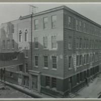 Construction of the Milling Building extension nearing completion, January 1931<br />