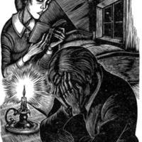 Fritz Eichenburg's illustrations to Constance Garnett's translation of Crime and Punishment from 1938