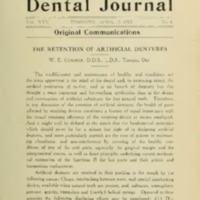 The retention of artificial dentures
