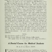 A dental course for medical students