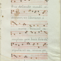 [Leaf from hymnal]