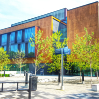 The Hazel McCallion Academic Learning Centre at the University of Toronto Mississauga.