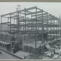 Construction of addition to the Milling Building, November 1930<br />
