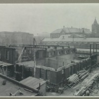 Construction of addition to the Milling Building, October 1930<br />