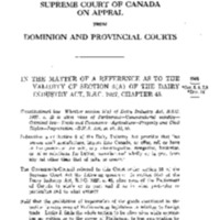 <em>Reference re Validity of Section 5 (a) Dairy Industry Act</em>, [1949] S.C.R. 1