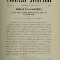 Some neglected features in dental prosthesis