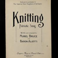 Suportting the British Empire (sheet music)