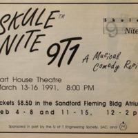 Skule Nite 1991 Advertisement