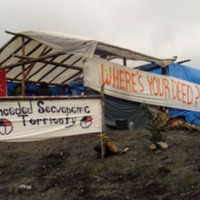 Photo: Secwepemc protect at Sun Peaks development: Where is Your Deed?